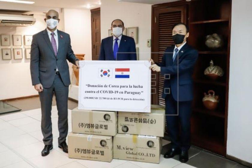 Paraguay alcanza su mayor número de muestras y recibe apoyo de Corea del Sur