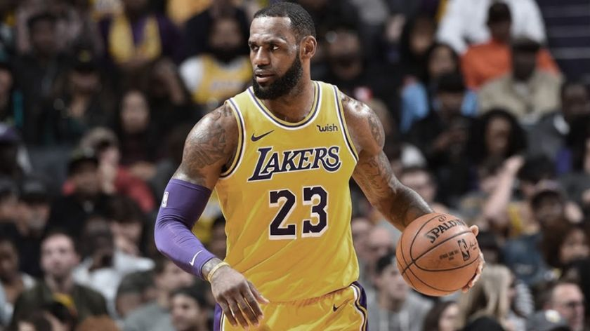 LeBron James, figura de los Lakers, se entrenó en privado con algunos compañeros