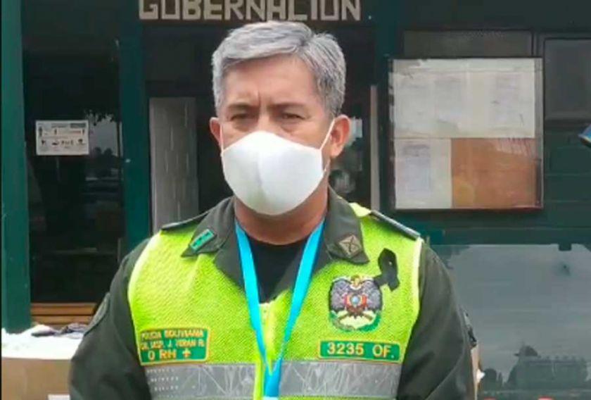 Comandante de la Policía de Santa Cruz da positivo por coronavirus