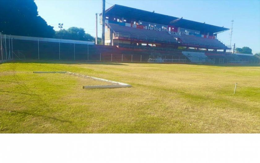 Real Santa Cruz tiene casi listo su estadio para volver a jugar de local