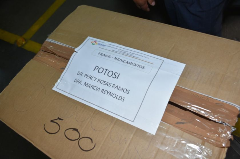 Los reactivos para laboratorio de Potosí ya están en Bolivia
