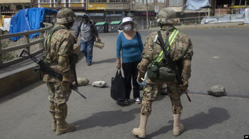 Hay 329 efectivos de las Fuerzas Armadas con coronavirus