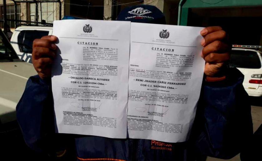 Dirigentes aprehendidos en Cochabamba serán procesados en La Paz; su defensa lo rechaza