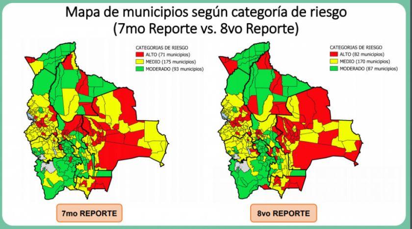 Coronavirus: 82 municipios en el país están en riesgo alto