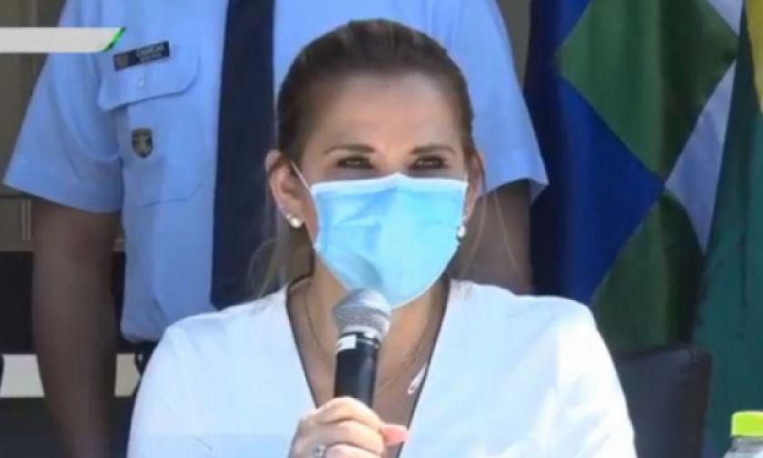 La presidenta Áñez apela a la solidaridad para hacer frente al covid-19