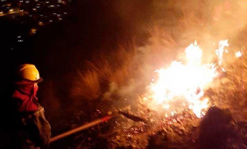 """Atribuyen a """"loteadores"""" el incendio forestal registrado en La Paz"""