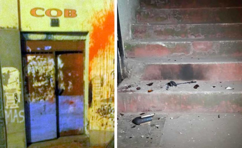 Registran explosiones en la sede de la COB; denuncian atentado