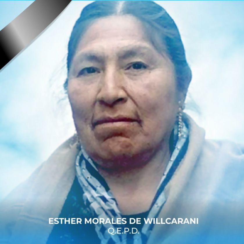 La falta de oxígeno agravó la salud de la hermana de Evo Morales