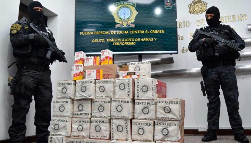 Interceptan carga ilegal de 126 mil municiones con efecto expansivo