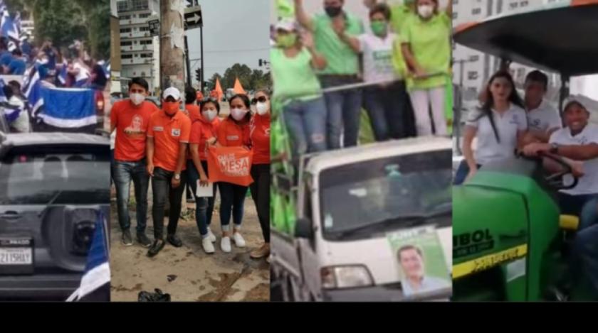 Partidos políticos están en campaña electoral en las calles y por redes sociales