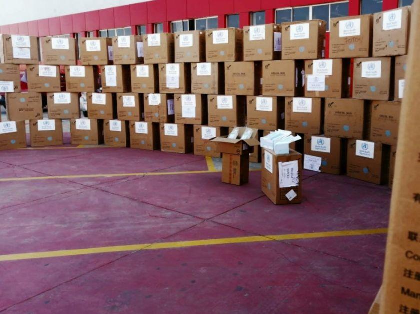 Ministro de minería entrega 2000 sueros y 7500 barbijos para Potosí