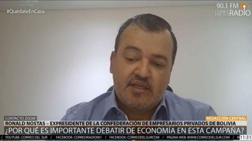 """Nostas: """"Busquemos pilares para construir una política económica"""""""