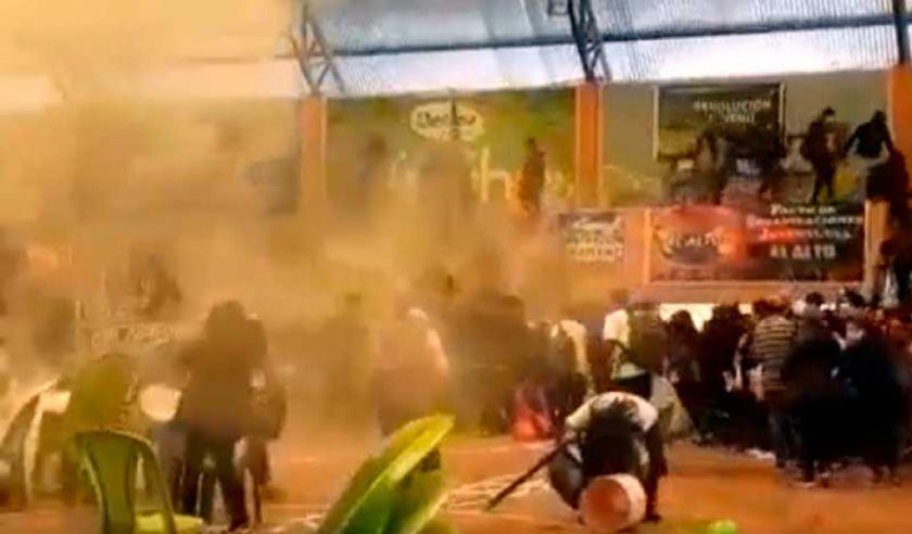 Denuncian gasificación en una concentración del MAS en El Alto