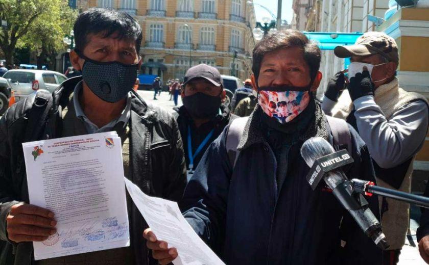 Facción de la dirigencia campesina pide al TSE que anule la personería del MAS