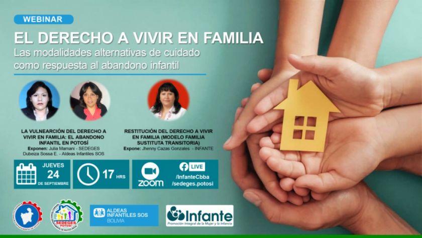 """Desarrollan webinar """"El derecho a vivir en familia"""""""