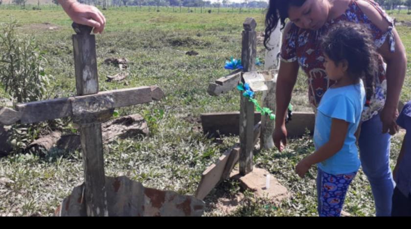 En memoria de los niños y niñas víctimas durante la VIII Marcha Indígena