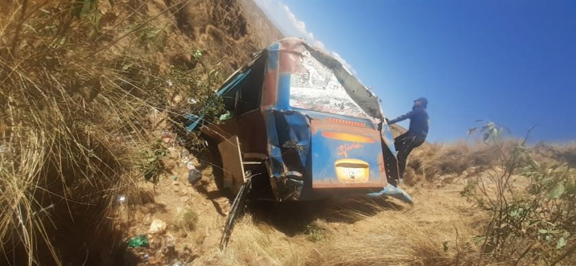 Sube a 24 fallecidos a causa del accidente en el norte de Potosí