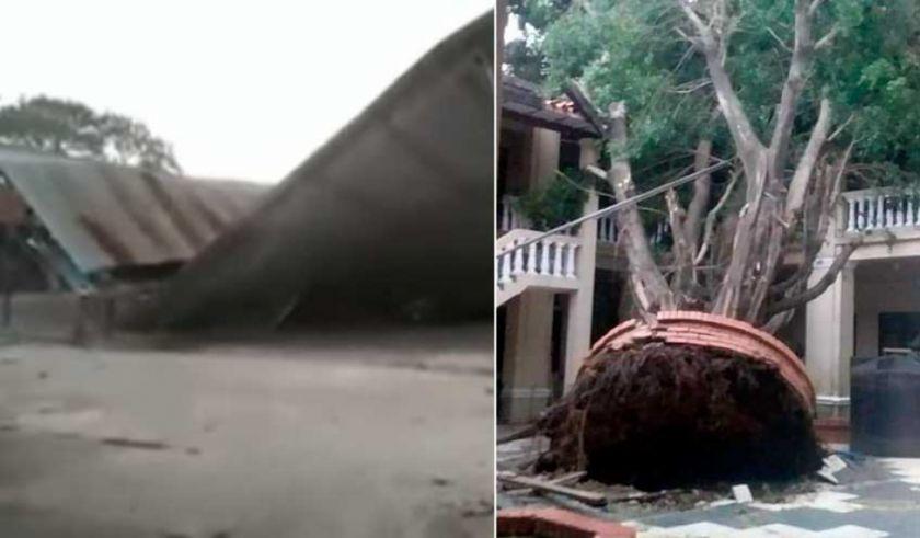Fuerte temporal con viento, lluvia y granizo azota Trinidad y causa estragos