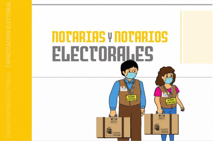 Notarios cumplen rol clave en la ejecución del proceso electoral