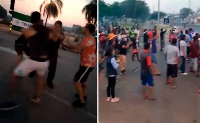 Registran incidentes en el paro convocado por la Unión Juvenil Cruceñista