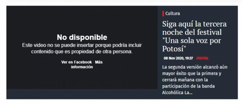 """Siga aquí la tercera noche del festival """"Una sola voz por Potosí"""""""