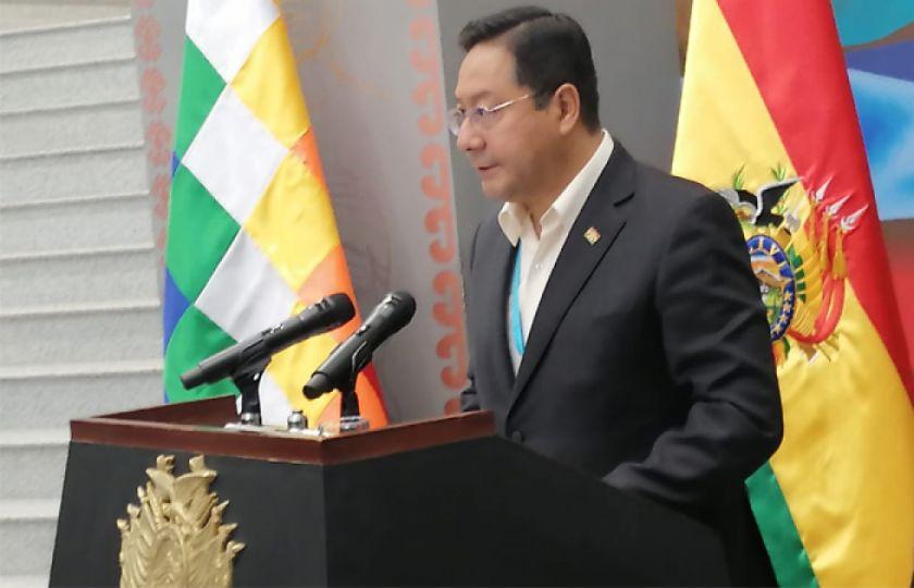 El presidente Arce anuncia reconstrucción gradual de la justicia boliviana