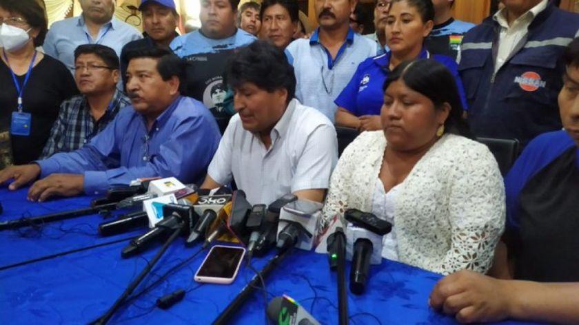 El partido MAS-IPSP elige a Evo Morales como presidente