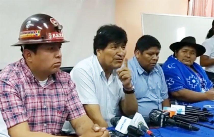 Evo Morales dice que nuevas generaciones tendrán oportunidad para ser candidatos