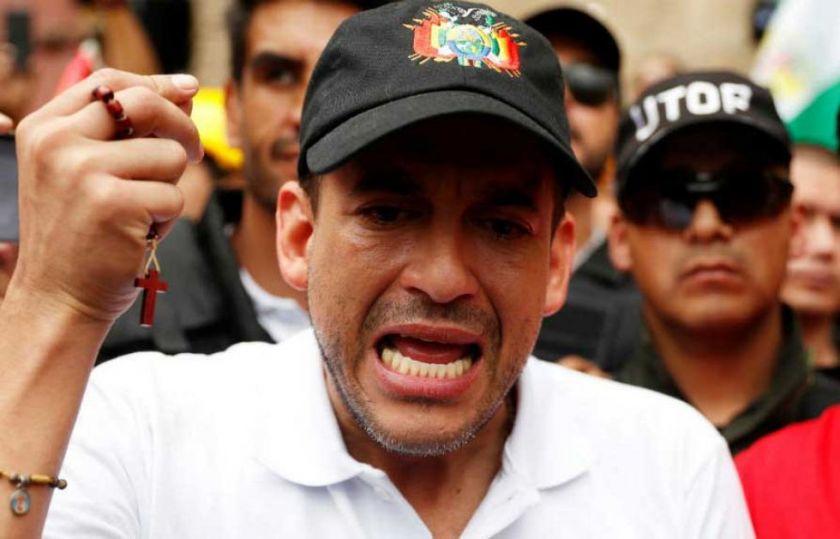 """Camacho asegura que Evo Morales no tiene """"suficiente valor"""" para denunciarlo y manda a una mujer"""