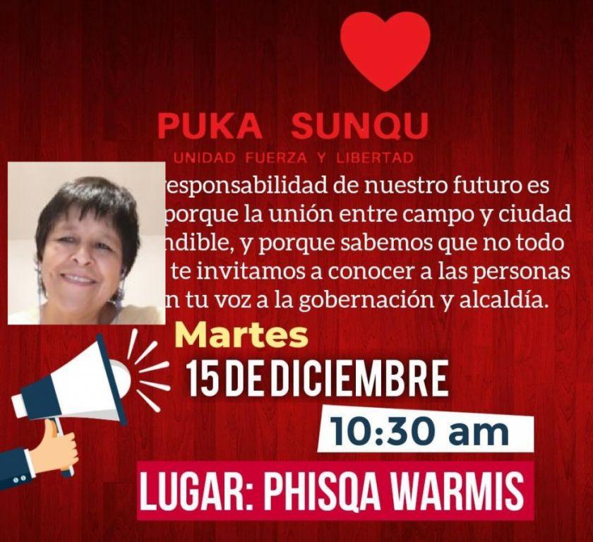 Ruth Velasco será presentada hoy como candidata a alcaldesa