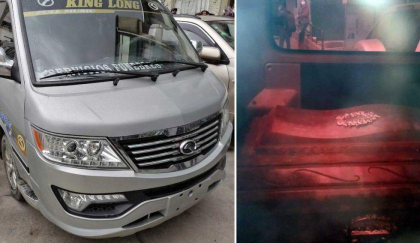 La Paz: Interceptan minibús que era usado para servicios funerarios presuntamente clandestinos