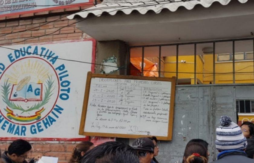 Inscripción escolar inicia la gestión 2021 condicionada por la pandemia