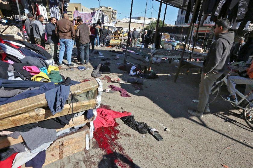 Reportan que hay casi 30 muertos en doble atentado suicida en el centro de Bagdad