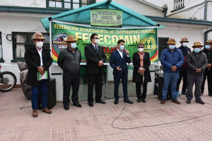Ministerio de Minería inicia en Oruro el plan antiCovid-19 para cooperativistas