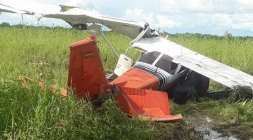 Avioneta se precipita a tierra en Beni; sus tres ocupantes salen ilesos