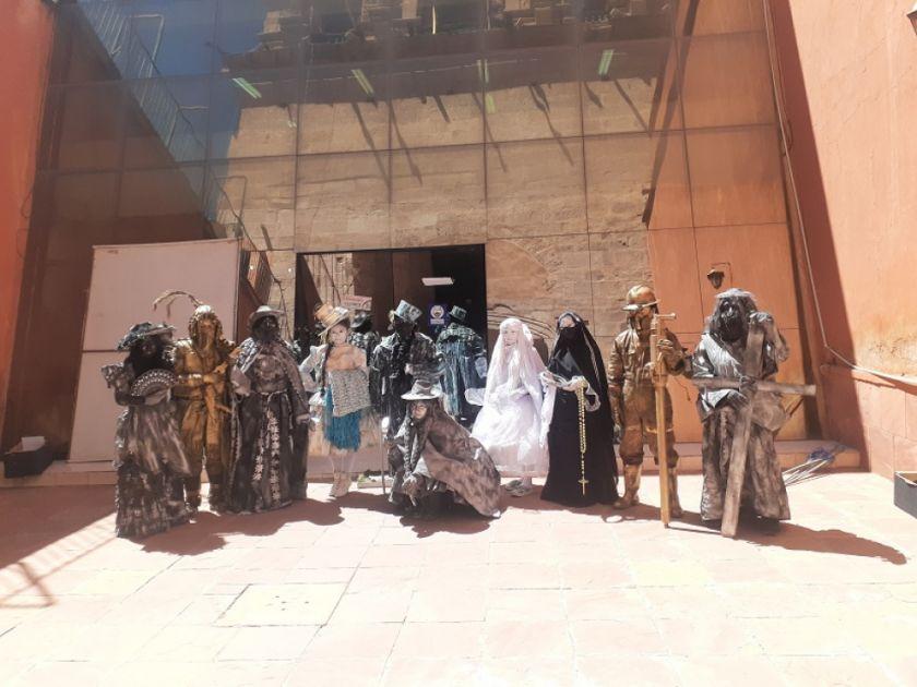 Elenco de teatro Wiñay tendrá sus estatuas vivientes esta jornada