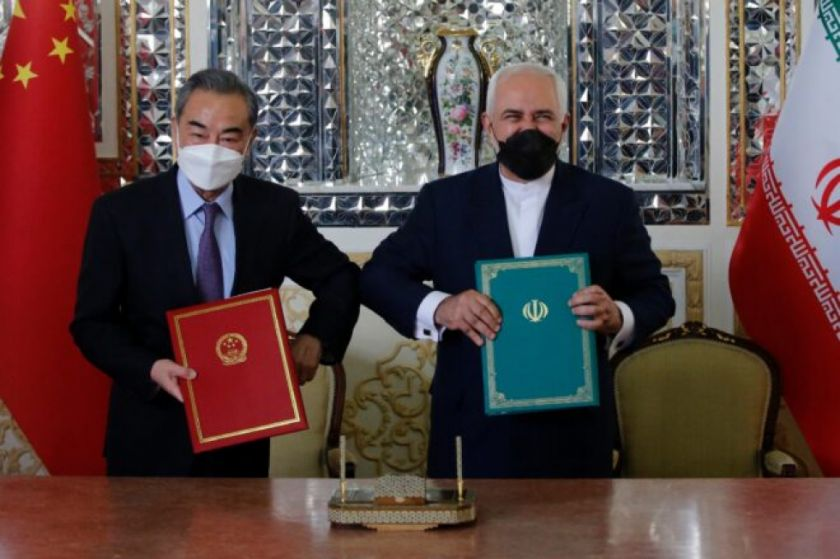 """Irán y China firmaron un """"pacto de cooperación estratégica"""" de 25 años"""