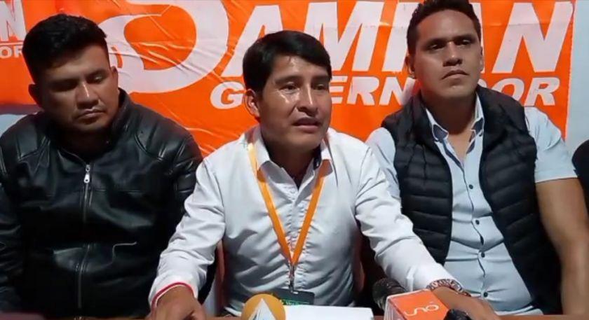 Damián Condori dice haber ganado la segunda vuelta para la Gobernación en Chuquisaca