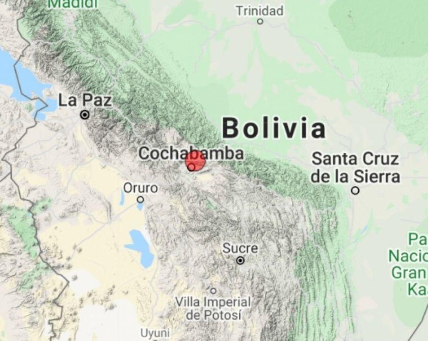 Un sismo de 3 grados en el Chapare causa susto en la ciudad de Cochabamba