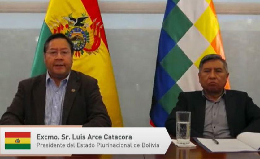 Arce en la Cumbre Iberoamericana plantea que transnacionales liberen las patentes de vacunas