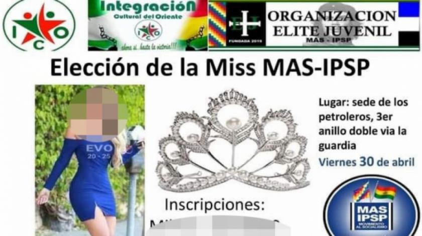Defensoría del Pueblo repudia convocatoria a la elección de Miss MAS-IPSP
