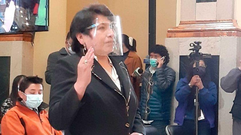 Dina Chuquimia vuelve a ser vocal del Tribunal Supremo Electoral