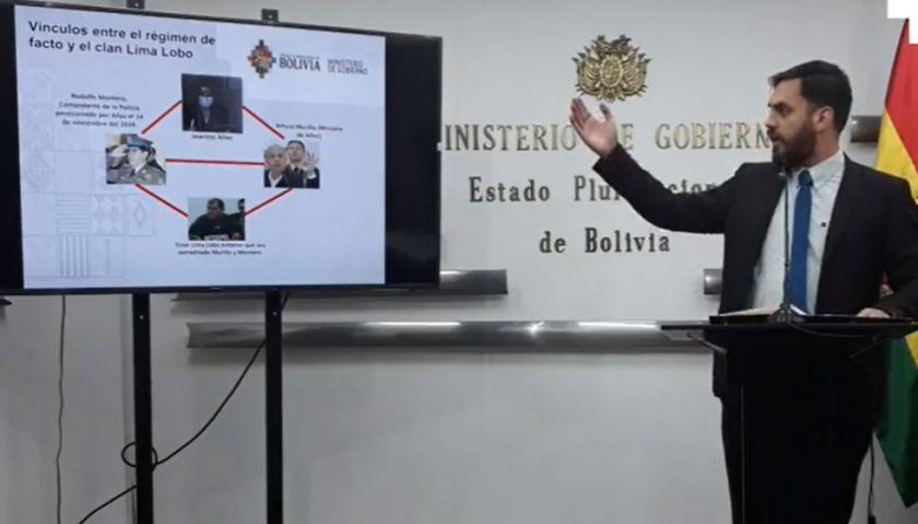 Gobierno denuncia formalmente a Murillo por caso Lima Lobo e implica a Añez como cabeza de un 'clan'