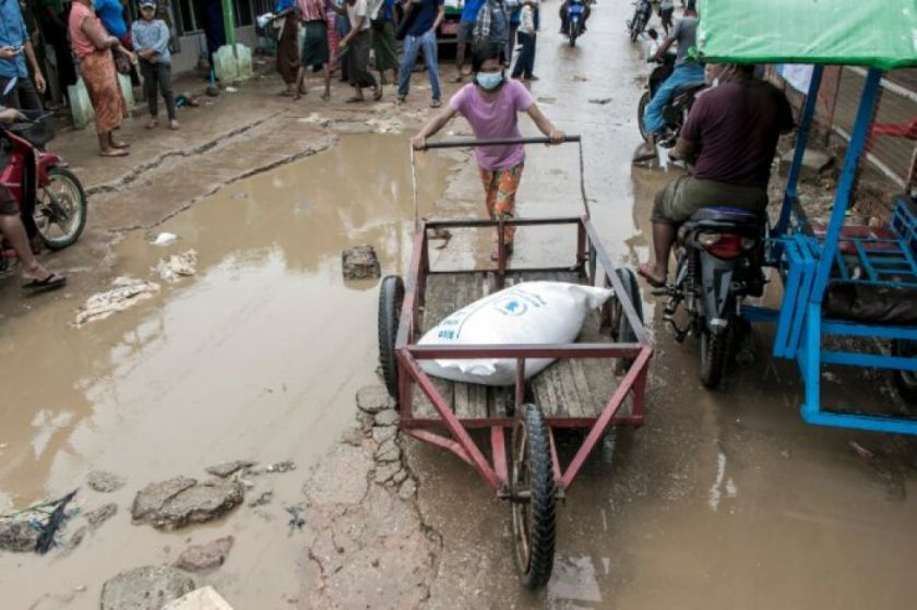 Centenares de miles de birmanos están amenazados por el hambre tras el golpe de Estado