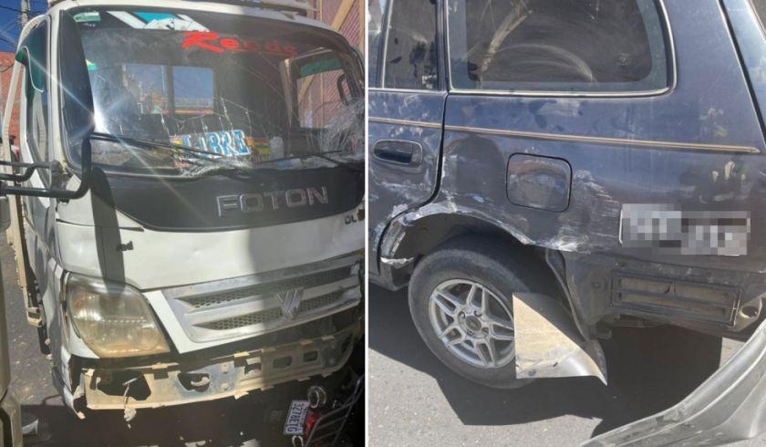 La Paz: Colisión múltiple deja un muerto y una persona herida en la zona Pasankeri