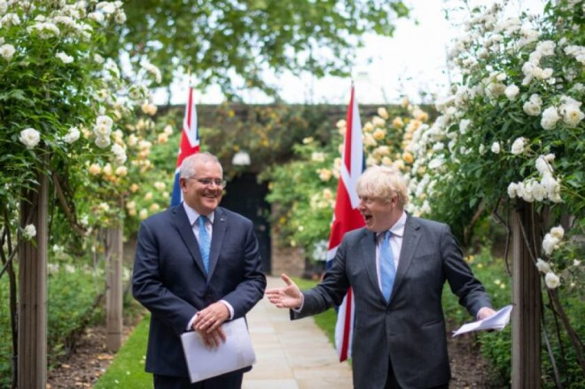 "Reino Unido anuncia ""histórico"" acuerdo comercial posbrexit con Australia"