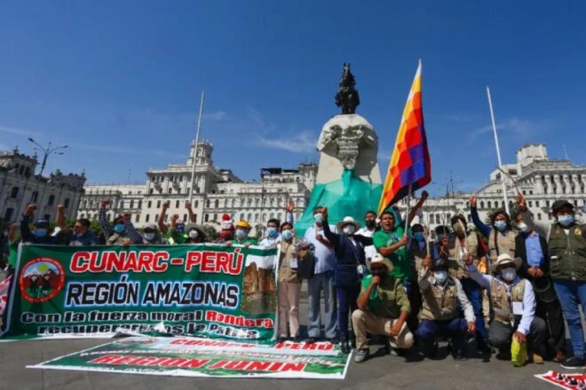 """""""El pueblo olvidado"""" llega a Lima a defender su voto por Castillo"""