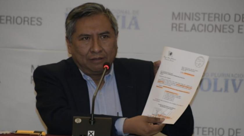 Piden desde renuncia e interpelación al canciller Mayta por supuesta carta a embajador argentino