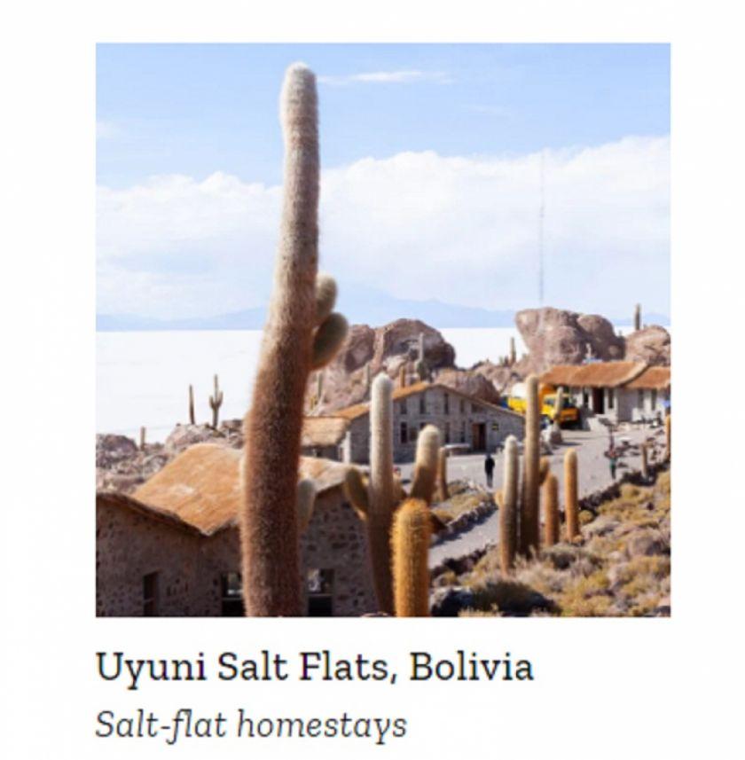 El Salar de Uyuni está entre los mejores lugares del mundo de la revista TIME