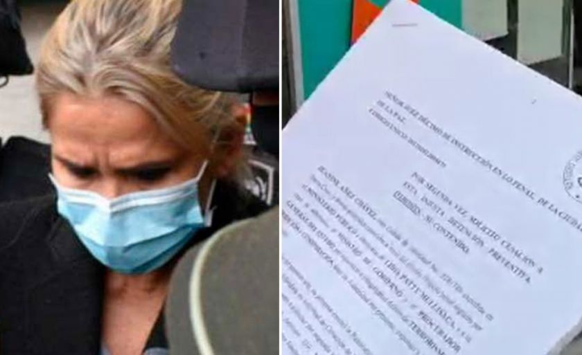 Defensa de Añez presenta segunda solicitud de cesación a la detención preventiva